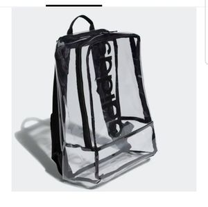 Adidas Clear Transparent Linear Backpack New Black